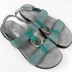 Alegria Julie 217 Sandals in Aqua 38/8-8.5
